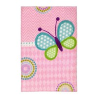 Tapis doux multicolore butterfly