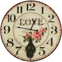 Horloge ancienne balancier love 58cm