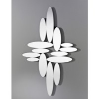 Miroir design ovals naturel