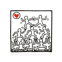 Affiche haring one man show (detail 2)