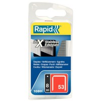 1080 agrafes rapid n°53 8 mm inox