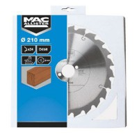 Lame de scie circulaire 210 x 30 mm mac allister - 24 dents