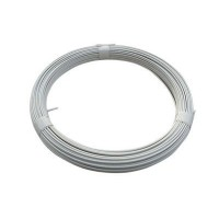 Fil de tension plastifié blanc 2,7 mm l.40 m