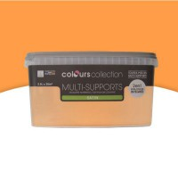 Peinture multi-supports colours collection clémentine satin 2,5l