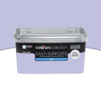 Peinture multi-supports colours collection lilas mat 2,5 l