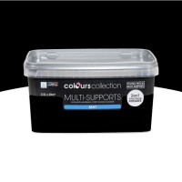 Peinture multi-supports colours collection noir mat 2,5 l