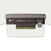 Peinture multi-supports colours collection lin blanc satin 2,5l