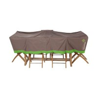 Housse de protection grande table blooma taupe et vert 300 x 120 x 60 cm