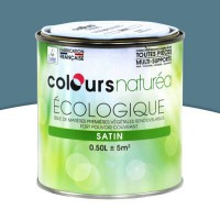 Peinture multi-supports colours naturéa pierre bleue satin 0,5l