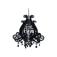 Suspension marquise noir h.48,3cm 60w