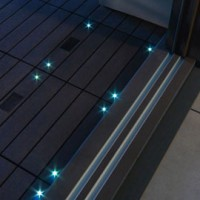 Dalle balcon emboitable en composite avec led 30 x 30 cm