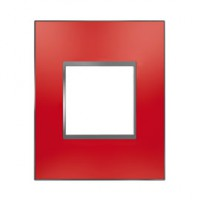 Plaque de finition simple rouge satin espace