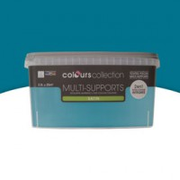 Peinture multi-supports bleu petrole satin 2,5l