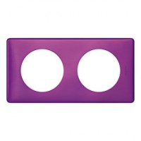 Plaque celiane 2 postes metal violet irise