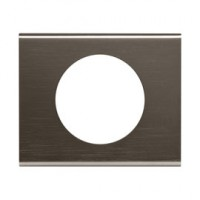 Plaque celiane 1 poste matiere black nickel