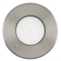 Spot exterieur encastrable rond union inox - led integree