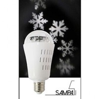 Ampoule decorative led holidays snowflake e27 4w rgb