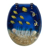Abattant wc multicolore poisson andrano