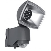 Projecteur ext. solaire a detection plast. noir led integree