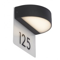 Applique murale ext. monido alu anthracite led int. 9w