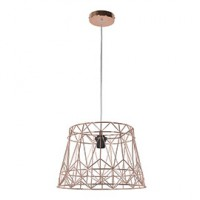 Suspension vogue metal cuivre Ø 41 cm e27 100w