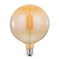 Ampoule decorative led globe e27 4w=20w blanc chaud