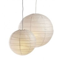 Suspension boule chinoise blanc Ø 30cm