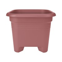 Pot de fleurs green basics square 40 cm rose magnolia - elho