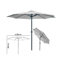 Parasol inclinable Ø 300 girs