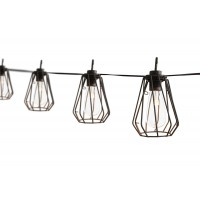 Guirlande lumineuse solaire 8 suspensions scandinaves