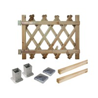Portillon kit en bois prunus 100 à fixer
