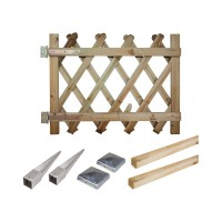 Portillon kit en bois prunus 100 à enfoncer