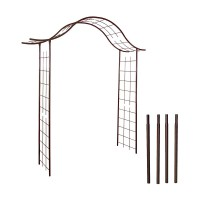 Pergola portique en fer + 4 supports à enfoncer - louis moulin