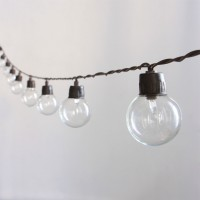 Guirlande lumineuse solaire 40 ampoules rondes