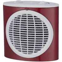 Chauffage d'appoint soufflant extra plat rouge