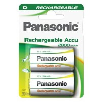 Pile rechargeable panasonic high capacity d lr20 x2 2800 mah