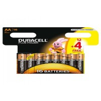 Pile duracell plus power lr06 aa 12+4