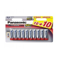 Pile panasonic lr06 aa every day power 10+10