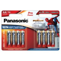 Pile panasonic spiderman 10+6 aa