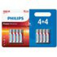 Pile philips pack piles lr3 4+4