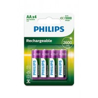 Pile rechargeable philips piles x4 aa 2600 mah