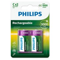 Pile rechargeable philips piles rechargeable lr14 3000 mah