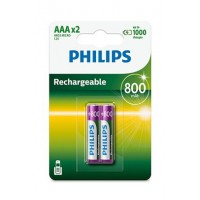 Pile rechargeable philips piles rechargeable aaa lr03 800 mah