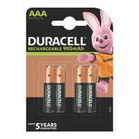 Pile rechargeable duracell lot de 4 piles rechargeables aaa 900mah