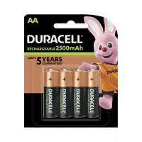 Pile rechargeable duracell duracell rechargeable, lot de 4 piles rechargeables aa 2500mah