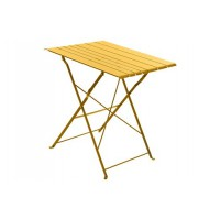 Salon de jardin hesperide table de jardin pliable nasca 2 personnes moutarde