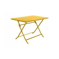 Salon de jardin hesperide table de jardin pliable greensboro 110x70cm moutarde