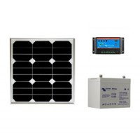 Kit solaire site isole 30 wc - 12v