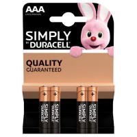 Pile duracell simply aaa x4
