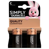 Pile duracell simply c x2